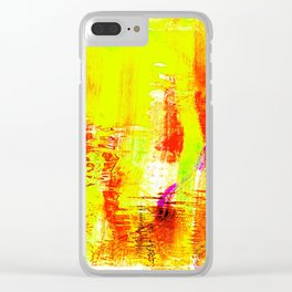 Yellow fire Clear iPhone Case