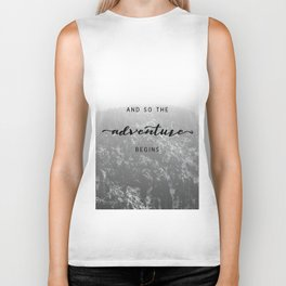 And So The Adventure Begins - Snowy Mountain Biker Tank