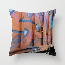 abstract graffiti Throw Pillow