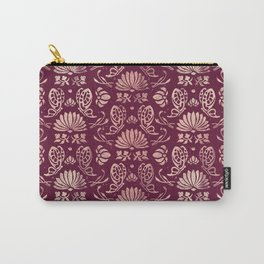 Classic Floral Pattern Carry-All Pouch
