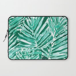 ON VACAY Green Palm Leaves Laptop Sleeve