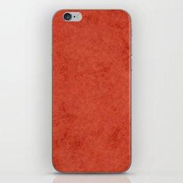 Orange suede iPhone Skin