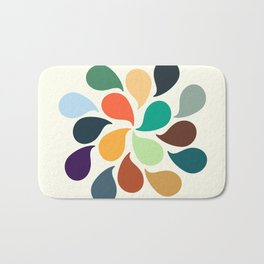 Colorful Water Drops Bath Mat