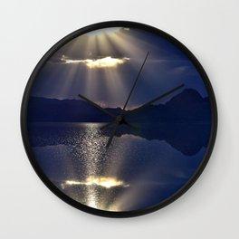 Salt Flat Sunset Wall Clock