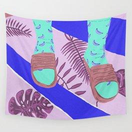 Summer-Socks & Style Sky Blue Edit Wall Tapestry