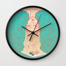 East noodles girl Wall Clock