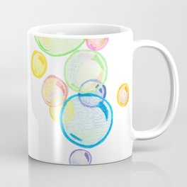 Rainbow Pastel Bubbles Floating Coffee Mug