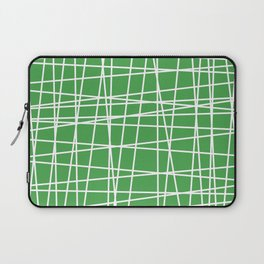 Green and White Lines Laptop Sleeve