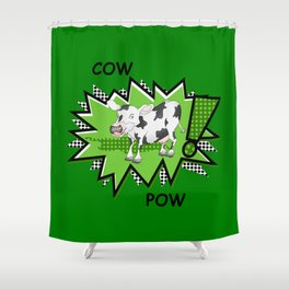 Cow Pow Shower Curtain