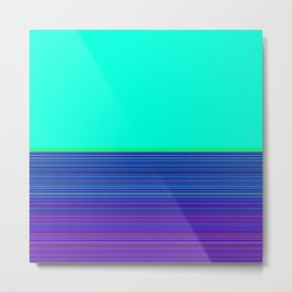Re-Created Color Field and Stripes 9 by Robert S. Lee Metal Print