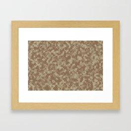 Dirt camo Framed Art Print