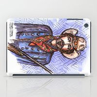 tom selleck iPad Cases featuring Quigley Down Under, Tom Selleck Drawing by Douglas Mooney