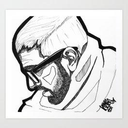 Sorrowing Man. Art Print
