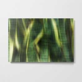 Green Palm Leaves Impression II Metal Print