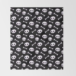 Cute Skulls Throw Blanket