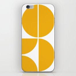Mid Century Modern Yellow Square iPhone Skin