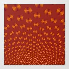 Orange Discs on Deep Orange Canvas Print