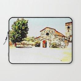 Pieve di Tho: church and tree Laptop Sleeve