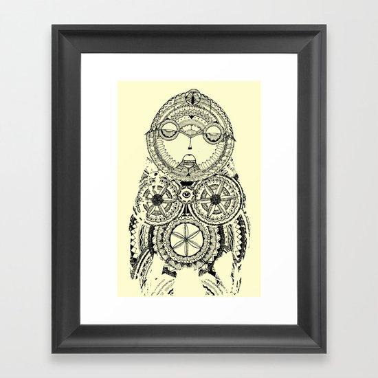 A wise old owl sat on an oak Framed Art Print