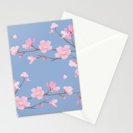 Cherry Blossom - Serenity Blue Stationery Cards