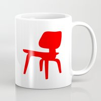 eames Mugs featuring Eames LCW by Green Bird Press