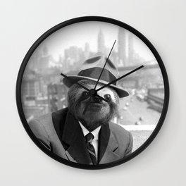 Sloth in New York Wall Clock