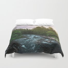 PNW River Run II - Pacific Northwest Nature Photography Duvet Cover