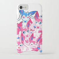 sylveon iPhone & iPod Cases featuring Sylveon Pile by SilviShinyStar