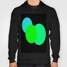 Aqua Green Black : Mod Circles Hoody