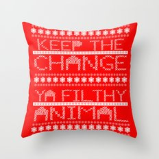 Keep the Change Christmas Sweater RonkyTonk Throw Pillow