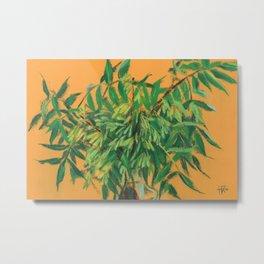 Ash-Tree, green & yellow Metal Print