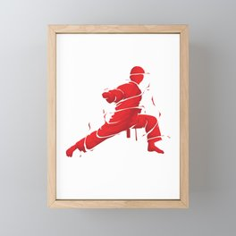 Eat Sleep Karate Repeat Fighter Martial Arts Kendo Taekwando Combat Sports Gift Framed Mini Art Print