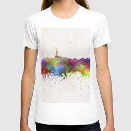 Leeuwarden skyline in watercolor background T-shirt