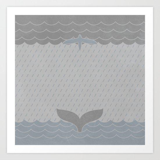 Sea Storm Symmetry Art Print