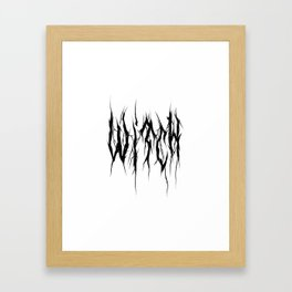 Witchcraft Core Framed Art Print