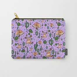 Fennec Foxes in Purple Carry-All Pouch