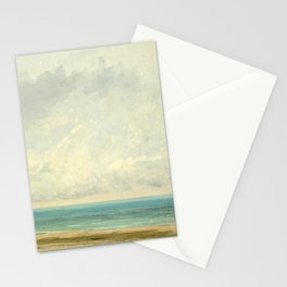 Calm Sea Oil Painting by Gustave Courbet Stationery Cards