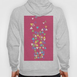 Contemporary Triangles Pattern Hoody