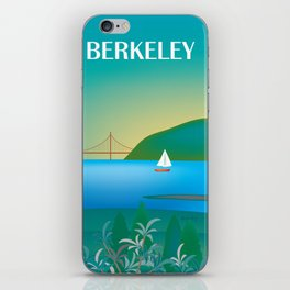 Berkeley, California - Skyline Illustration by Loose Petals iPhone Skin