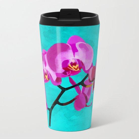 Orchid pink Metal Travel Mug