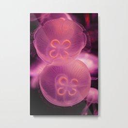 Pink Moon Jellyfish Metal Print