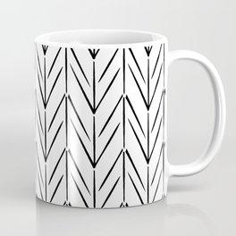 Simple chicken footprint lines pattern white and black Coffee Mug