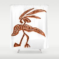 greg guillemin Shower Curtains featuring Rain Dancer by Greg Phillips by SquirrelSix