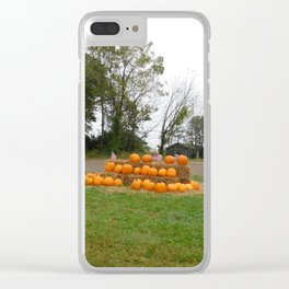 Patriotic Pumpkins Clear iPhone Case