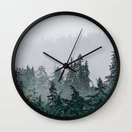 The Faded Fog Wall Clock