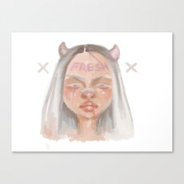 Fresh Girl Canvas Print