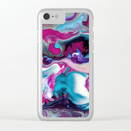 Colorful abstraction Clear iPhone Case