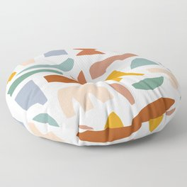 Cut Collage Floor Pillow