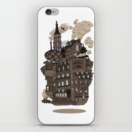 Flying city. iPhone Skin