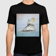 Dog Driving a Shoe Mens Fitted Tee Black MEDIUM